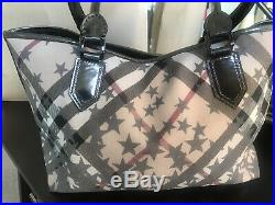 100% Authentic BURBERRY Limited Edition LARGE TOTE SHOULDER HANDBAG Very Clean