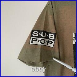 90s Nirvana Bleach Sub Pop Vintage Band Tour Shirt 1990s Soundgarden Pearl Jam