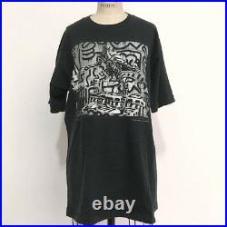 90s Vintage KEITH HARING Annie Leibovitz photo T-Shirt pop shop book supreme