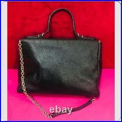 AUTHENTIC CAROLINA HERRERA BlACK Minuettoe Flap Bag
