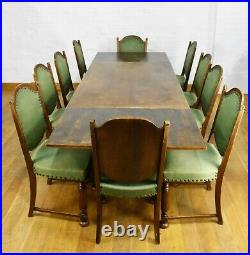 Antique vintage Very large 8 10 seater extending dining table