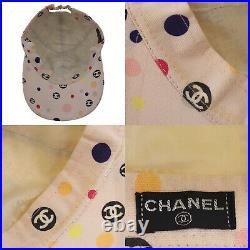 CHANEL CC Logos Tote Bag Hat Set Canvas Pink France Vintage Authentic #AC568 O
