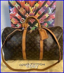 Certified Auth. Louis Vuitton Monogram Keepall 50 Duffle bag US SELLER