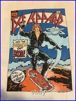 Def Leppard Women shirt vintage 1987 concert tour t-shirt Large