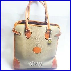Dooney Bourke Vintage Weekender Gladstone Shopper Tote Handbag Leather RARE