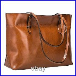 Genuine Leather Large Tote Shoulder Hand Bag for Women Christmas Gift For Her