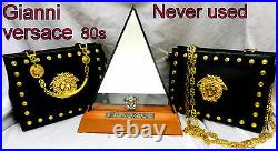 Gianni Versace Bag Leather Medusa Never Used Early 90s vintage RARE Lady Gaga