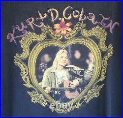 Kurt Cobain Memorial T Shirt L Anvil Grunge Soundgarden Nirvana Alice in Chains
