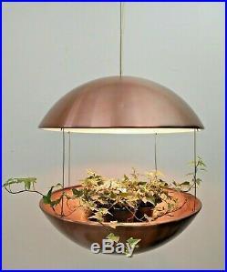 LARGE Iconic Vtg Poul Cadovius Mcm DANISH Lyskaer BELYSNING Ceiling PLANTER Lamp