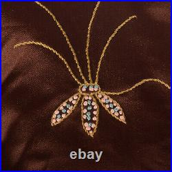 Large 1910s Silk Day Dress Edwardian Belle Epoque Brown Pink Antique 1920s VTG