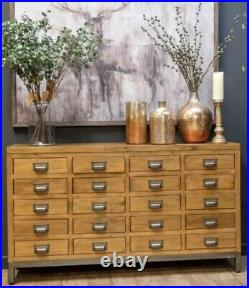 Large 20 Drawer Solid Pine Apothecary Cabinet Collectors Industrial