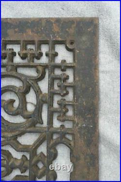 Large Antique Cast Iron Cold Air Return Vent Decorative Old 20x28 Vtg 1455-16