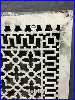 Large Antique Cast Iron Gothic Heat Grate Register 16x24 Vent Old VTG 1021-20B