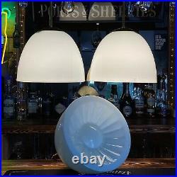 Large Antique Vintage Opaline Glass Pendant Light