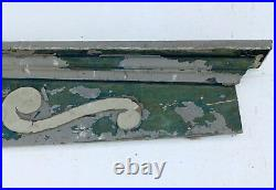 Large Antique Window Pediment Header Old Vintage Shabby Victorian Chic 362-16