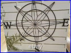 Large Metal Wall Art compass, indoor outdoor compass cardinal points 91cm x 91cm