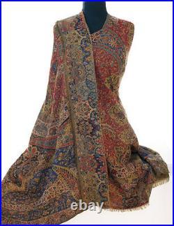 Large Superior Jamavar Shawl Paisley Jamawar from India Pashmina Very Detailed