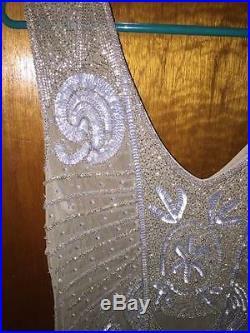 Large Vintage 1920's Glass Beaded Flapper Dress