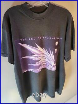 Large/XL 90s Vintage NEON GENESIS EVANGELION GAINAX ANIME Shirt RARE HTF
