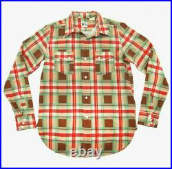 Levi's Vintage Clothing LVC Rodeo Shirt Brown Check Print Levis 100% Cotton