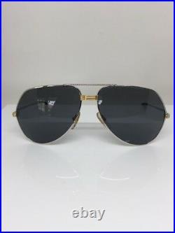 New Vintage Cartier Aviator Platinum 62-14-140mm Large Vendome Sunglasses France