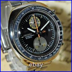Original Seiko 6138-0011 Ufo Retro Chronograph Large Automatic Quickset Day Date