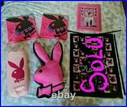 Playboy Bunny Pillow Pink & Black Large Designer 2006 Vintage and extras