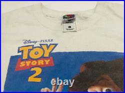 RARE 90s Vintage Toy Story 2 Cast Member Promo T-Shirt Size Large