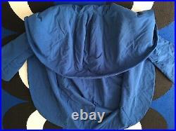 Rare OMO Norma Kamali Iconic Blue Cocoon Coat Size Large