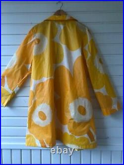 Rare Vintage Marimekko Unikko Rain Coat Jacket Size L Matching Hat Size L