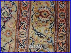 Shabby Chic Worn Vintage Hand Made Traditional Green Wool Large Carpet 400x287m