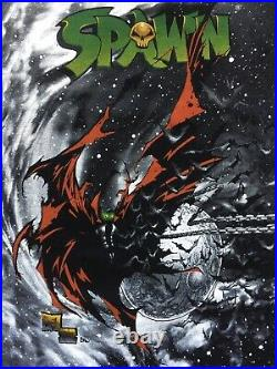 Spawn McFarlane 1997 Image Comic Shirt 90s VTG Capullo All Over Marvel Spiderman