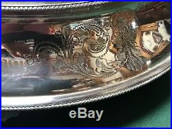 Superb Victorian / Vintage Large Silver Plated Mirror Top Wedding Cake Stand