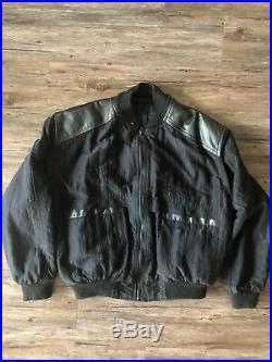 THE CURE WISH TOUR 1992 FICTION BLACK JACKET BAND LARGE Vintage Rare Member