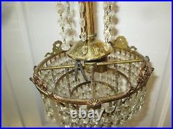 True Vintage Chandelier Bronze Victorian Crystal Wedding Cake 2 LIGHT