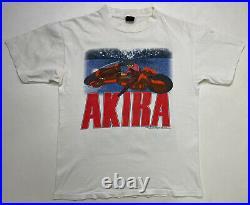VINTAGE Fashion Victim Akira 1988 T-shirt Men's Large Black 80s Single Stitch
