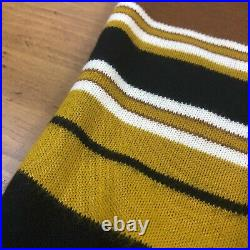 VTG 50s 60s Mod Mens S/S Striped Knit Sweater Shirt Towncraft Penneys Acrylic