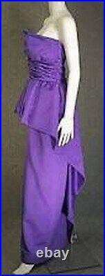 Victor Costa, Women, Dress, Satin Green, Wrapped Large-Bow, Full Length, Size 6