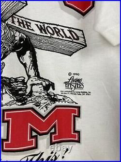 Vintage 1990 Lords Gym Jesus Christian Religious Promo Tee Shirt Size Large