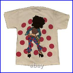 Vintage 1993 Betty Boop All Over Print Disco Tour Concert T-Shirt L