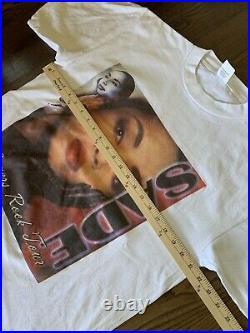 Vintage 2001 Sade Lovers Rock Tour Music Tee T Shirt Mens Sz. L Bootleg Rap Lot