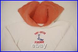 Vintage 50s Two Tone Hoodie Sweatshirt Clark Coats Hood Zipper Port Austin Large
