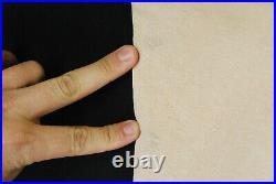 Vintage 50s Wide Long Rib Crewneck Sweatshirt Tan Beige Blank Mens L Pep Shirt