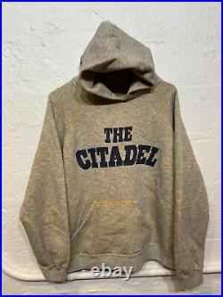 Vintage 60s 70s Citadel Military Hoodie Sweatshirt Size Mens L USMA Champion