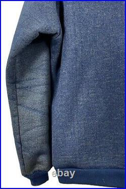 Vintage 70's PATAGONIA Blue Hooded Reverse Deep Pile Fleece Hoodie Jacket USA