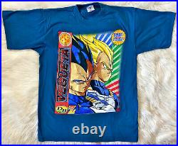 Vintage 90s DRAGON BALL Z VEGUETA VEGETA DBZ Anime T SHIRT Very Rare L XL