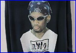 Vintage 90s NBA Dennis Rodman Long Sleeve T-shirt nwo wwe wwf Wrestling 1997 vtg