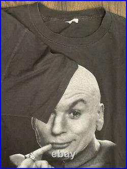 Vintage Austin Powers Dr. Evil T-Shirt 1998 Size Large Single Stitch 90s Movie