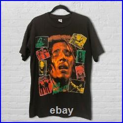 Vintage Bob Marley T Shirt 90s Rap Tee Double Sided Bootleg Single Stitch