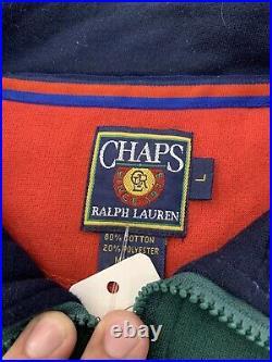 Vintage Chaps Ralph Lauren Crest Pullover Crewneck Sweatshirt Size L-XL